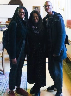 The three co-researchers of the Advisory Hub project - Tyra, Bobby and Folu