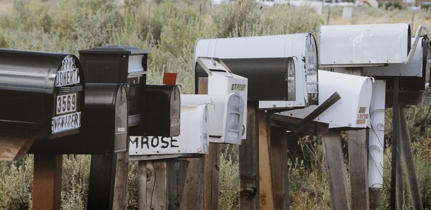 photo of letterboxes in a row