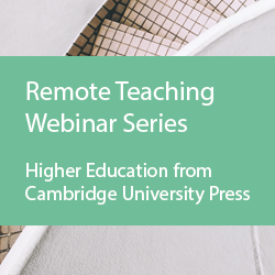 Logo for the Remote Teaching Webinar Series by Cambridge University Press