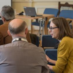 A group discussion taking place between audience members of the Teaching Forum 2019