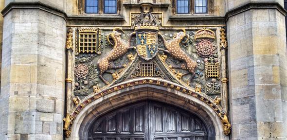 Christ's College very ornate gate