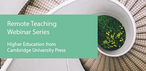 Remote teaching webinar series banner