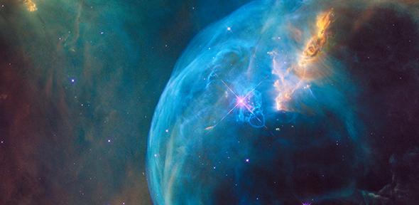 Telescope image of a galaxy